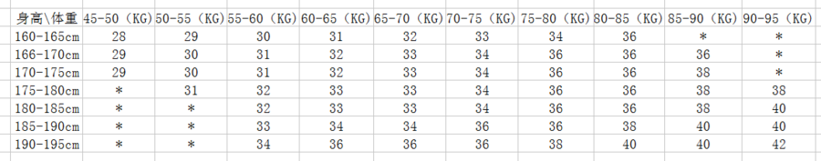 男西裤身高体重表.png